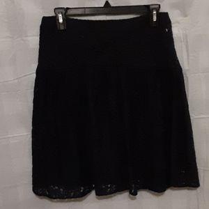 LOFT Black Lace skirt size 4 NWOT